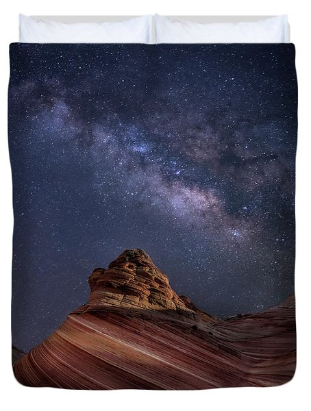 Milky Way And The Wave Duvet Cover