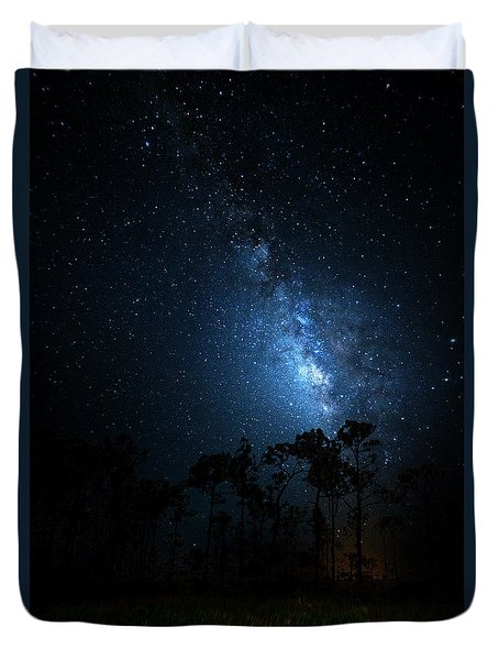 Duvet Cover featuring the photograph Milky Way At Big Cypress National Preserve by Mark Andrew Thomas