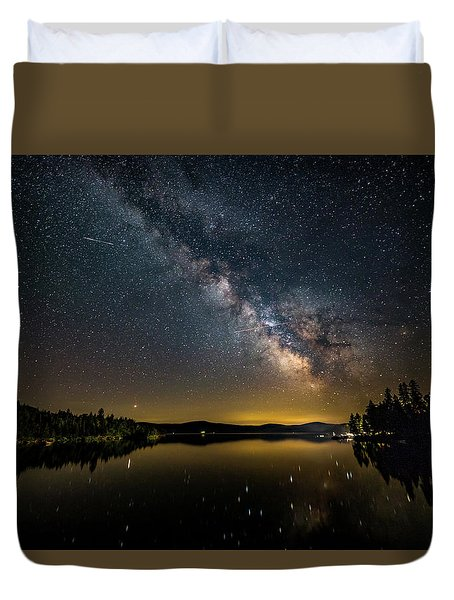 Milky Way At Hunter Cover Duvet Cover