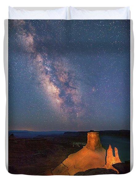 Milky Way At Marlboro Point Duvet Cover
