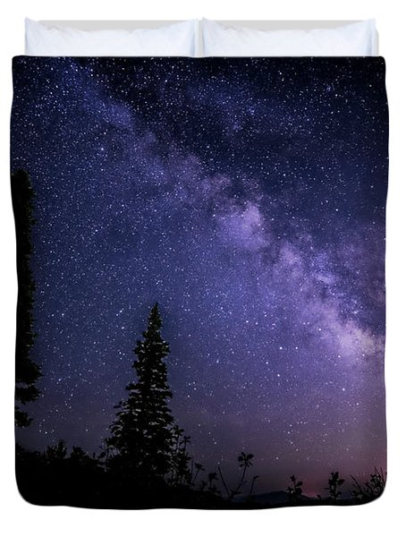 Milky Way At Powder Mountain Duvet Cover