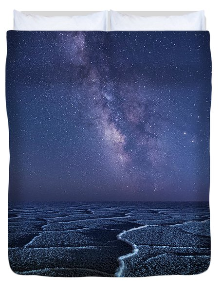 Milky Way At The Salt Flats Duvet Cover