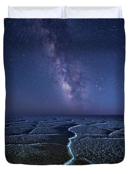 Milky Way At The Salt Flats Duvet Cover