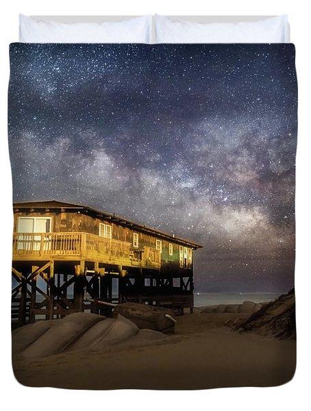 Milky Way Beach House Duvet Cover