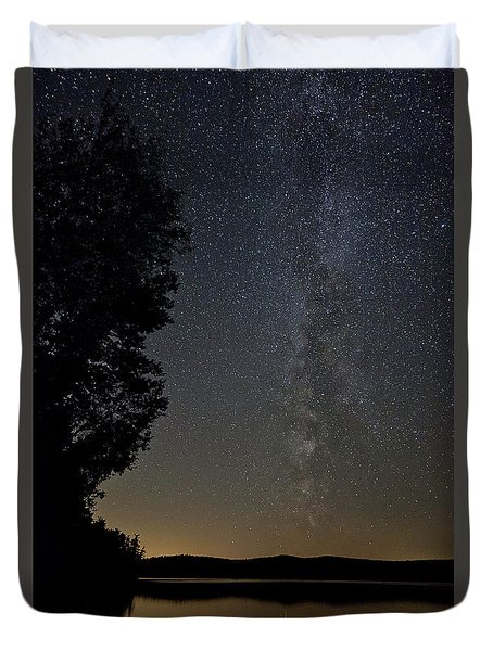 Milky Way Chocorua Lake Duvet Cover