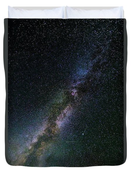 Duvet Cover featuring the photograph Milky Way Core by Bryan Carter