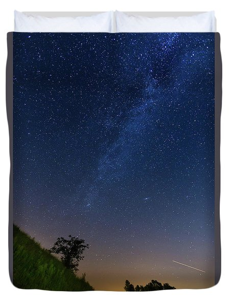 Duvet Cover featuring the photograph Milky Way by Davor Zerjav