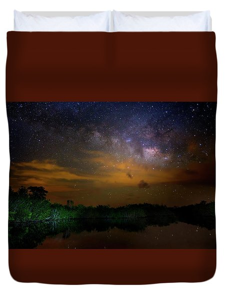 Milky Way Fire Duvet Cover by Mark Andrew Thomas