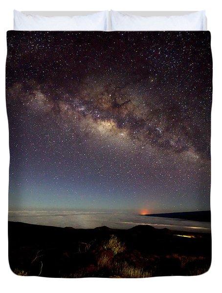 Milky Way From Mauna Kea Duvet Cover