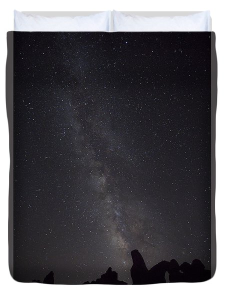 Milky Way Galaxy At Arches National Park Duvet Cover