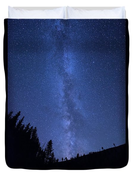 Milky Way Galaxy Duvet Cover by Juli Scalzi