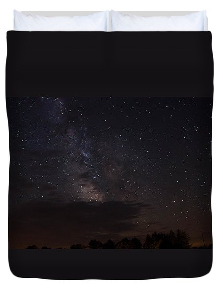 Duvet Cover featuring the photograph Milky Way by Gary Wightman