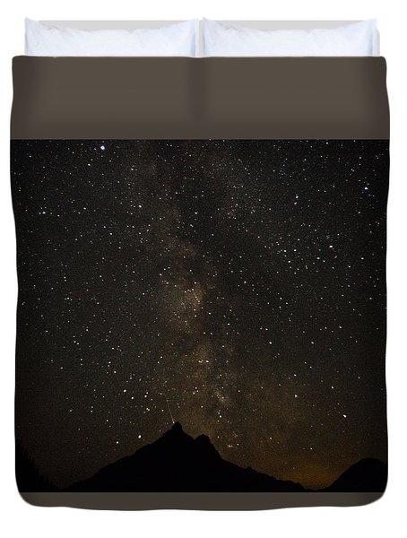 Milky Way, Glacier Nat'l Park Duvet Cover