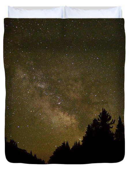 Milky Way In The Whites Duvet Cover