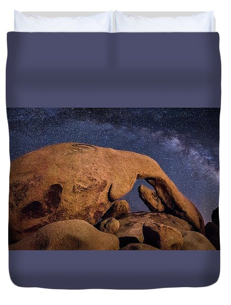 Milky Way Over Arch Rock Duvet Cover