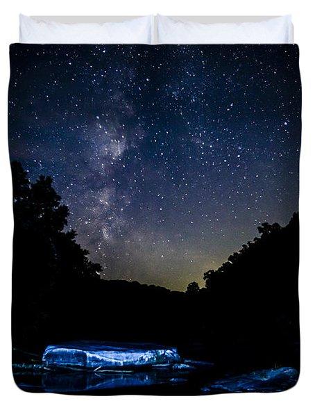Milky Way Over Baptizing Hole Duvet Cover