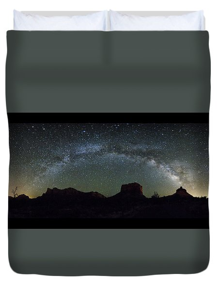 Milky Way Over Bell Duvet Cover