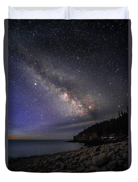 Milky Way Over Boulder Beach Duvet Cover
