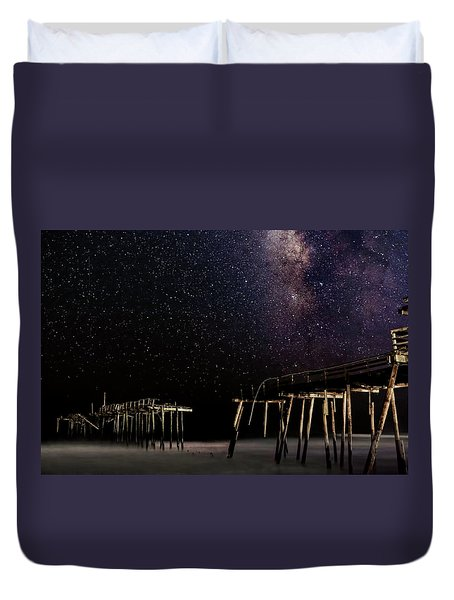 Milky Way Over Frisco Duvet Cover
