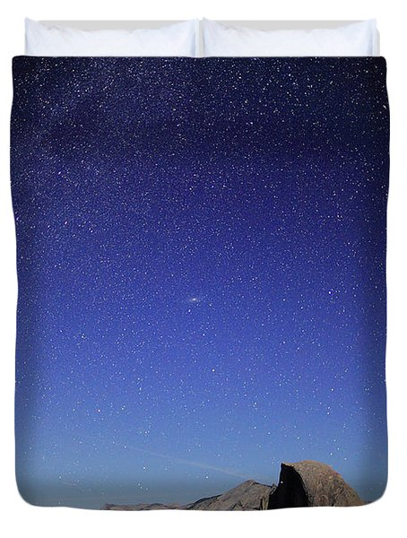 Milky Way Over Half Dome Duvet Cover