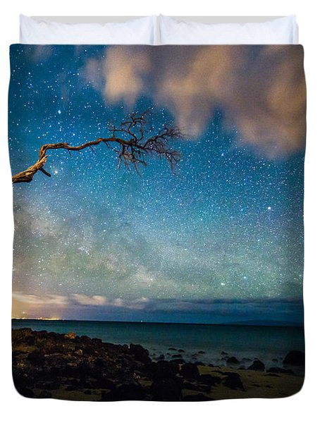 Milky Way Over Kihei Duvet Cover