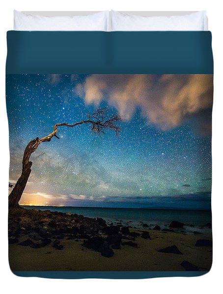 Milky Way Over Kihei Duvet Cover