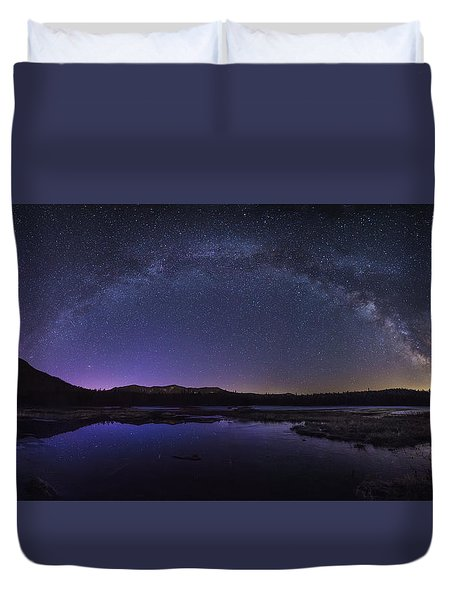 Milky Way Over Lonesome Lake Duvet Cover