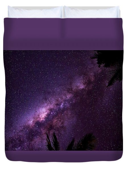 Milky Way Over Mission Beach Duvet Cover