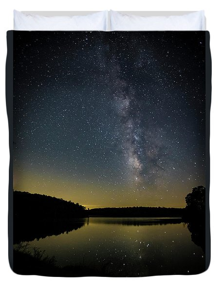 Milky Way Over Price Lake Duvet Cover