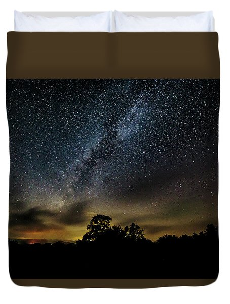 Milky Way Over The Blue Ridge Duvet Cover