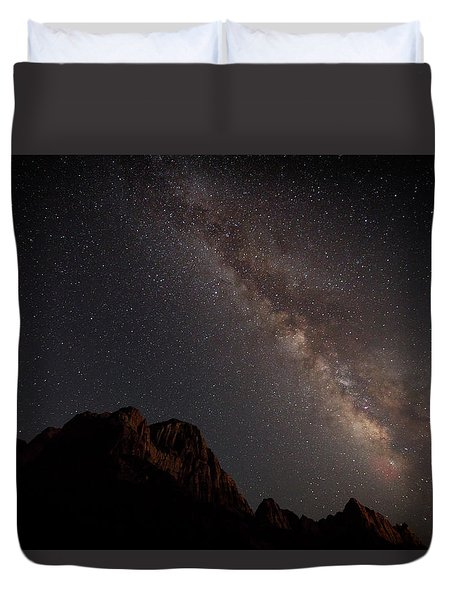 Milky Way Over Zion Duvet Cover