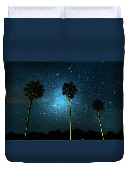 Milky Way Planet Duvet Cover by Mark Andrew Thomas