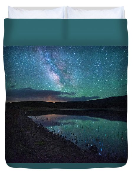 Milky Way Reflections Duvet Cover