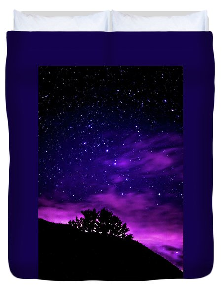 Milky Way Rising Duvet Cover
