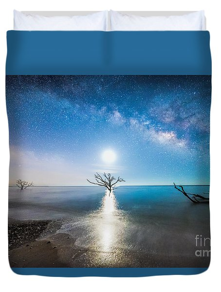 Milky Way Shore Duvet Cover