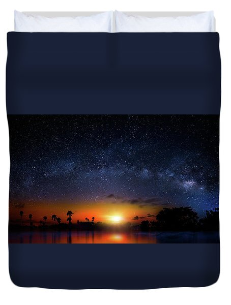 Milky Way Sunrise Duvet Cover by Mark Andrew Thomas