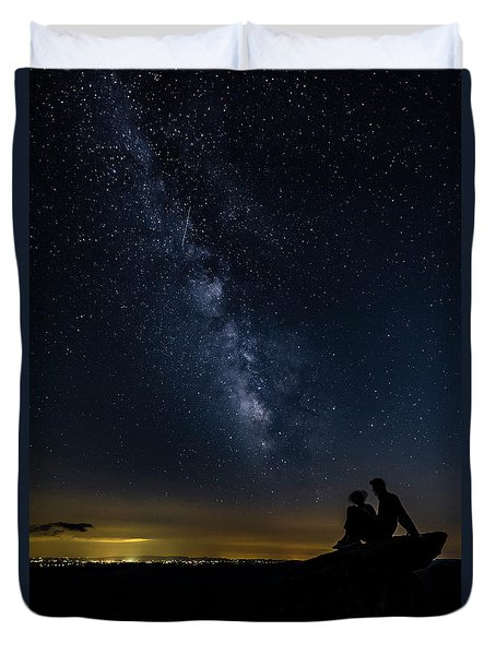 Milky Way Viewed From Rough Ridge Duvet Cover