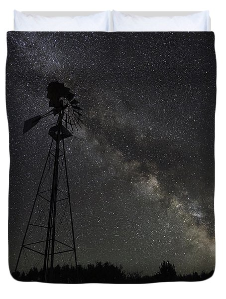 Milky Way Windmill  Duvet Cover