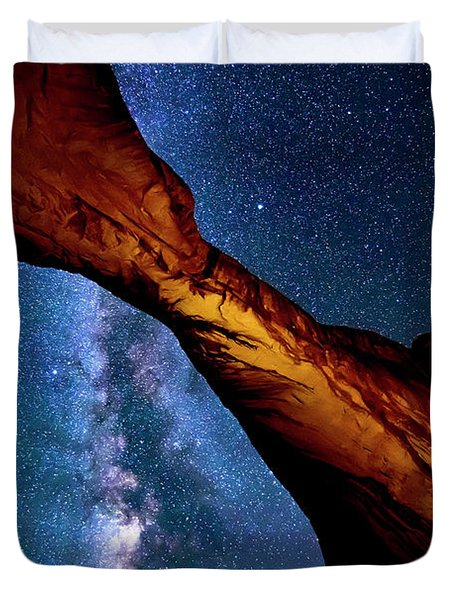Milkyway At Arches Duvet Cover