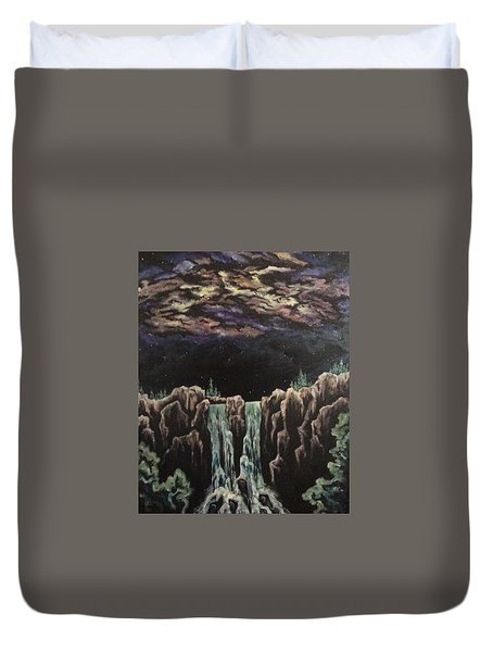 Duvet Cover featuring the painting Milkyway by Cheryl Pettigrew