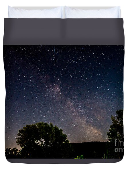 Milkyway In The Catskills Duvet Cover
