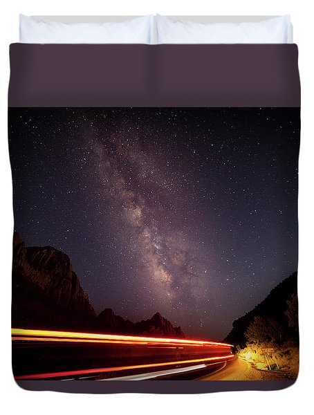Milkyway Over The Higway Duvet Cover