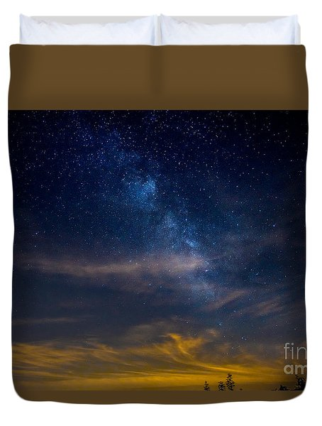 Milkyway With Sky Glow Duvet Cover