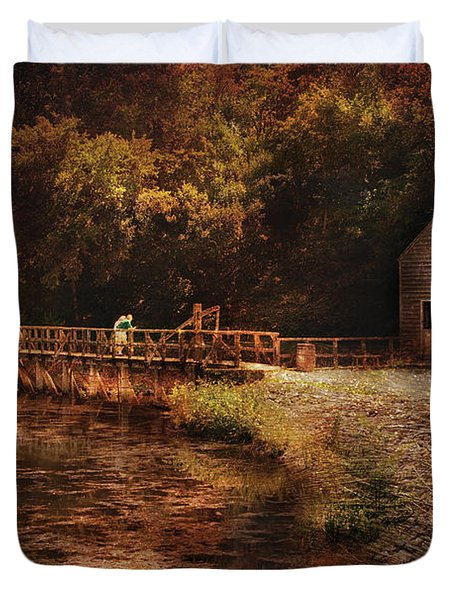 Mill - The Village Edge Duvet Cover by Mike Savad