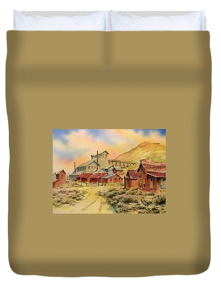 Mill Bodie Ghost Town California Duvet Cover by Kevin Heaney