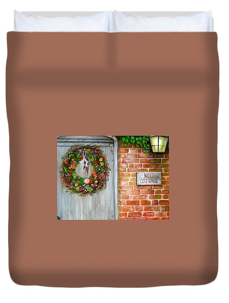 Mill Cottage Duvet Cover by Patrice Torrillo