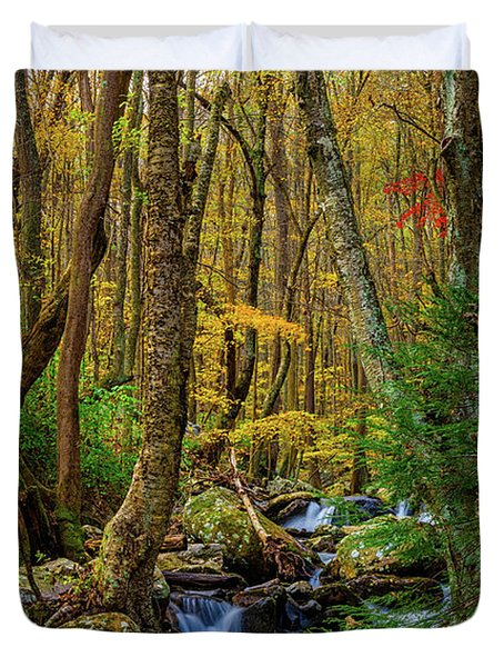 Mill Creek In Fall #1 Duvet Cover