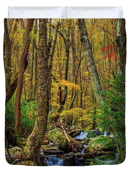 Mill Creek In Fall #1 Duvet Cover