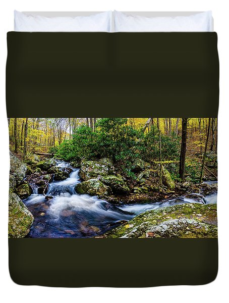 Mill Creek In Fall #4 Duvet Cover