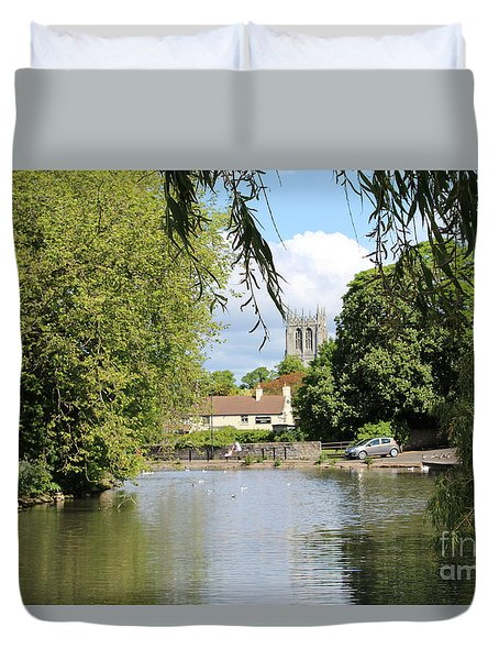 Mill Dam,tickhill Duvet Cover
